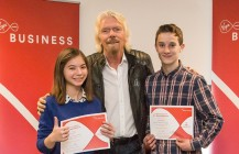 Students enlighten Richard Branson on the future of technology!